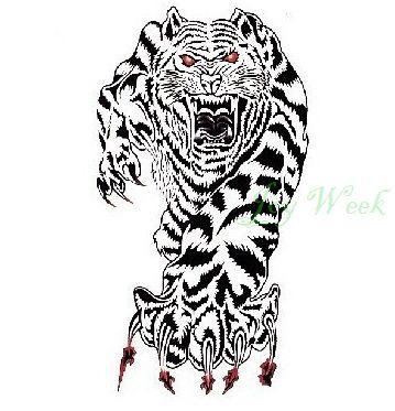 Купить Водонепроницаемый временные татуировки наклейки на тело животных тигр татуировки для мужчин переброска воды поддельные тату флэш татуировкии другие товары категории Временные татуировкив магазине Joy weekнаAliExpress. Временные татуировки