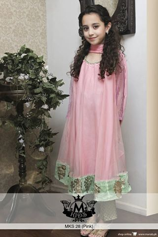 Maria B Semi Formal Winter Collection 2015, Women & Kids Dresses in Stores Now (2) | AwamiFashion - Pakistani Designers Dresses Collection