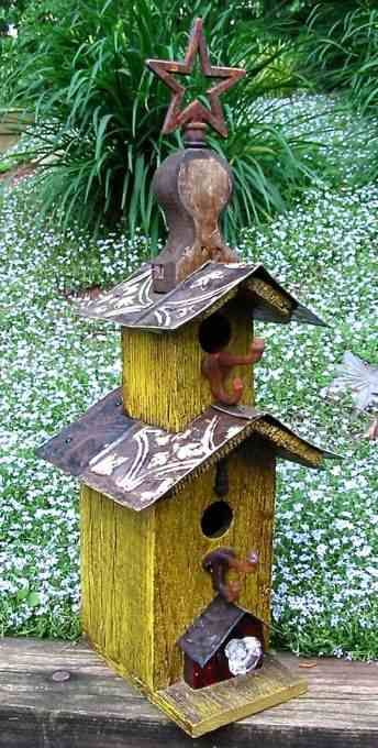 Pagoda Vintage Birdhouse by Lorenzo's Wood Works