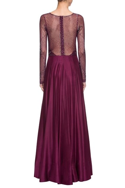 Purple embellished gown