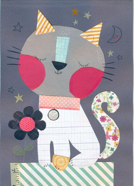 Cat por SigridMartinez en Etsy