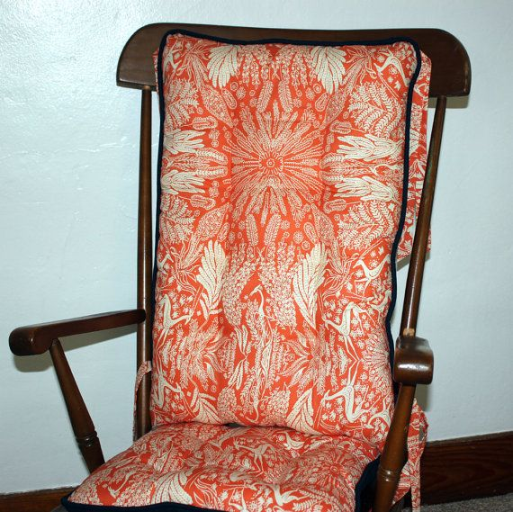 Marvelous Amy Butler Oh Deer Custom Rocking Chair Cushions, Glider Replacement Pads,  Wooden Rocking Chair Pads
