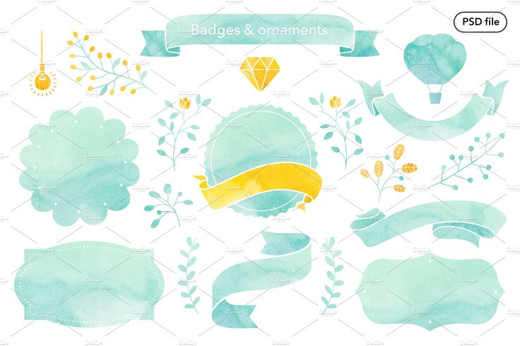 Watercolor texture & clipart by chloe on @creativemarket