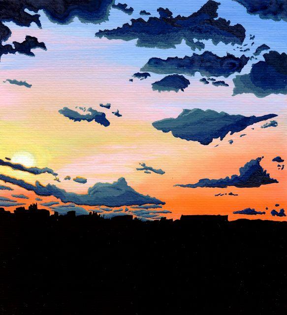 Desenho do Dia #269 - Sunset - Soraia Casal