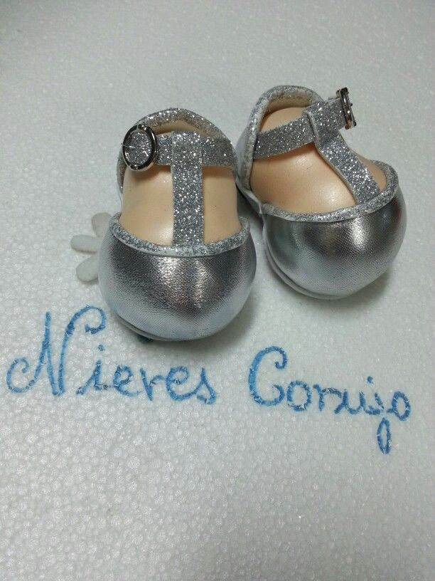 Zapatos fofucha plateados