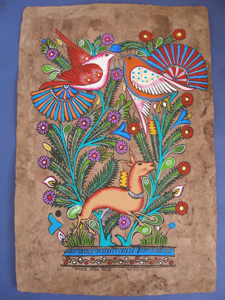 Amate Bark Painting -  Mexican Folk Art