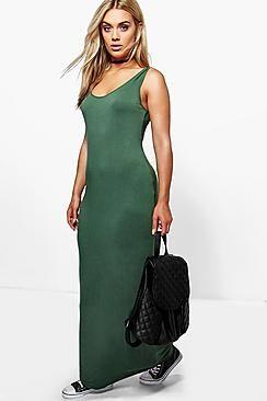 Plus Rosie Scoop Neck Maxi Dress