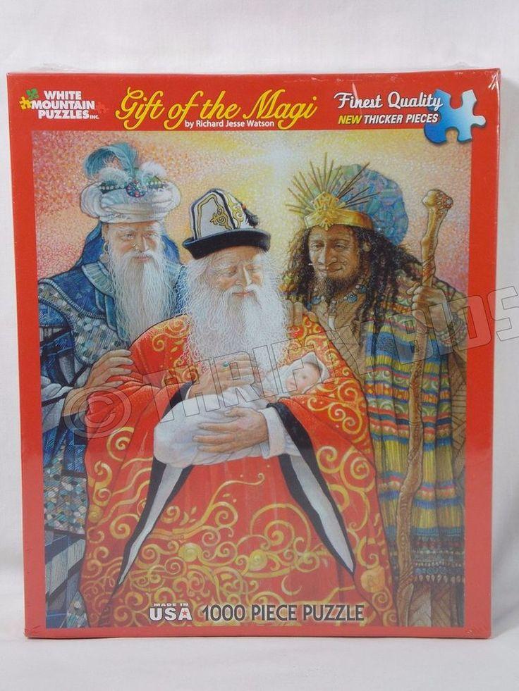 White Mountain Puzzles 938S Gift of the Magi 3 Wise Men Kings 1000 Piece Puzzle #WhiteMountain