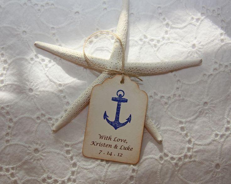 Nautical Wedding Tags - Personalized set of 50. $35.00, via Etsy.