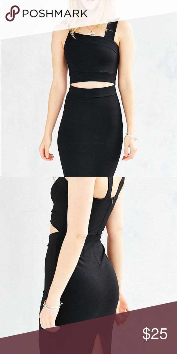 solence+noise cutout bodycon midi dress in black a very nice dress in great condition,sexy and elegant. Urban Outfitters Dresses Midi