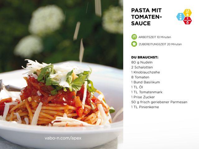 Heute ist Tag der italienischen Küche... mhmmm, lecker! 🇮🇹 Der perfekte Zeitpunkt, um Pasta mit Tomatensauce zu zaubern – und zwar nach unserem APEX Konzept Buch. 😍 Das gesamte Rezept findest du auf unser Facebook-Seite. Viel Spaß beim Kochen! 😊👍 #vabo_n #cooking #homemade #recipe #tasty