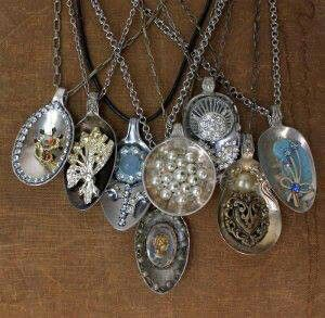 Old spoon pendants - love these!
