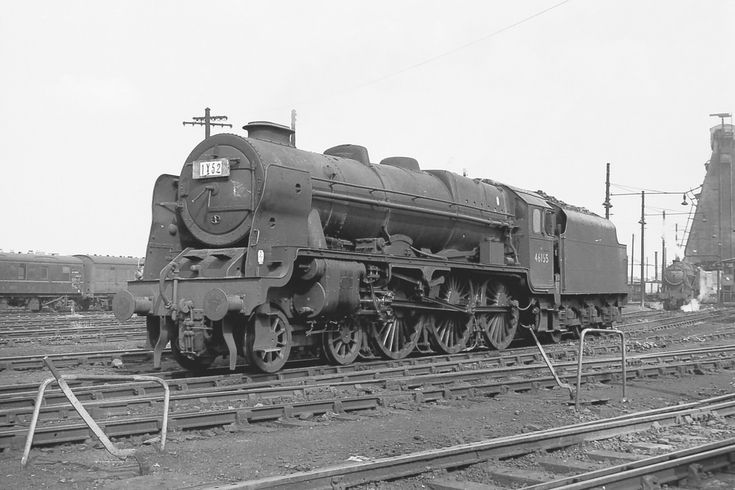 LMS Royal Scot Class 4-6-0 No 46155 The Lancer at Willesden Shed 7 July 1963 FG Steinle