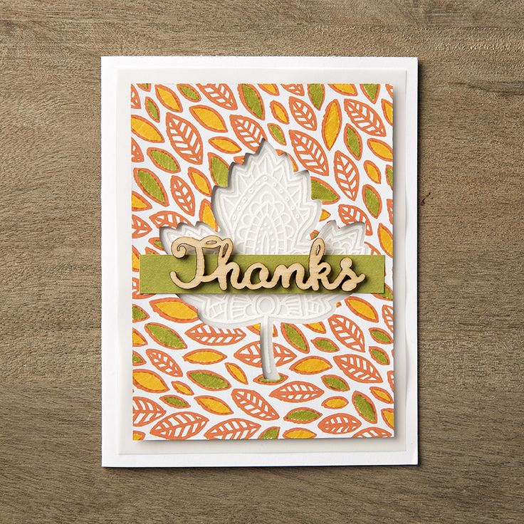 Use your Stampin' Write Markers to add pops of color to the Into The Woods designer series paper.