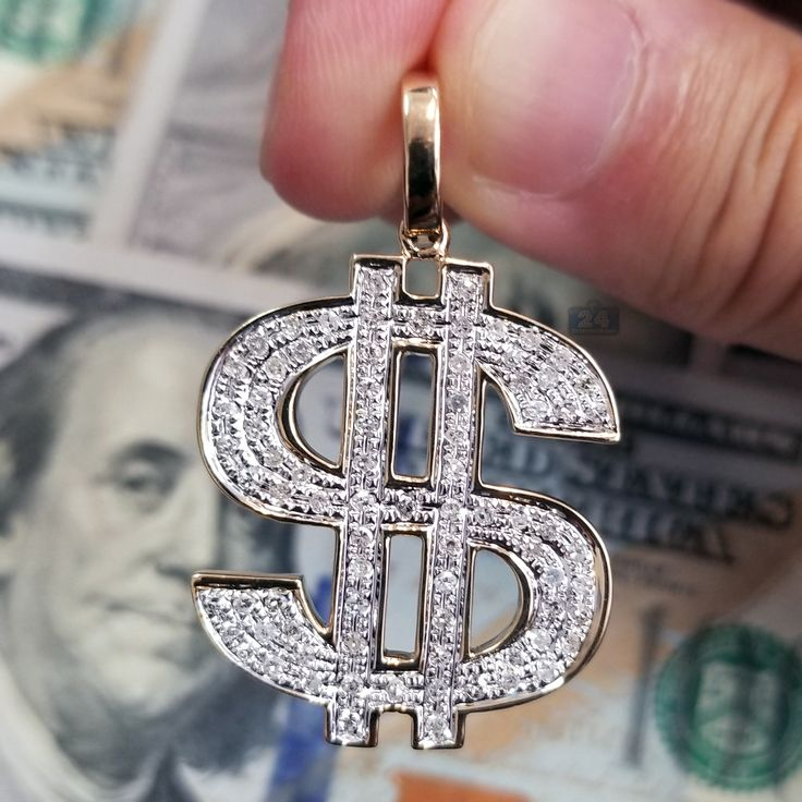 """""""Mo Money Mo Problems?"""" Check our new Men's Diamond Dollar Sign Pendant in Yellow Gold #jewelry #pendant #gold #diamonds #diamondpendant #menspendant #design #swagg #luxury #lifestyle #accessory #money #dollars #dollarsign #dollarsignpendant #wardrobe #apparel #fancy #style #men #hot #bitcoin #shopping #yellowgold #jewelryformen #customjewelry #custompendant #symbol #luck #success"""