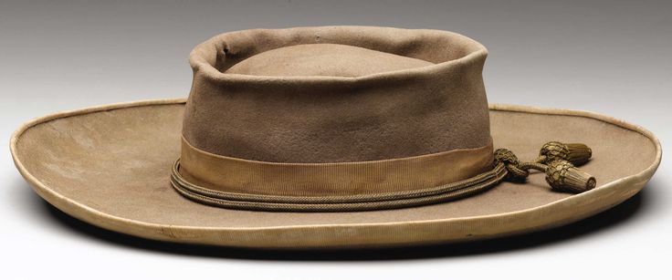 Civil War North Carolina Confederate Officer's Slouch Hat Originally the Property of the North Carolina State Museum.