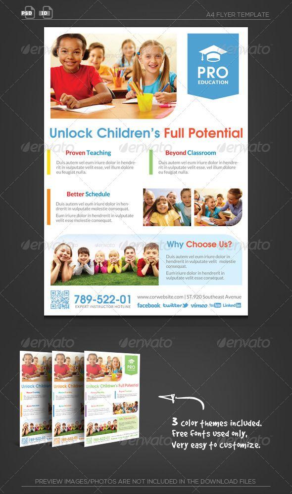 12 best Design templates for School images on Pinterest Design - advertising flyer template
