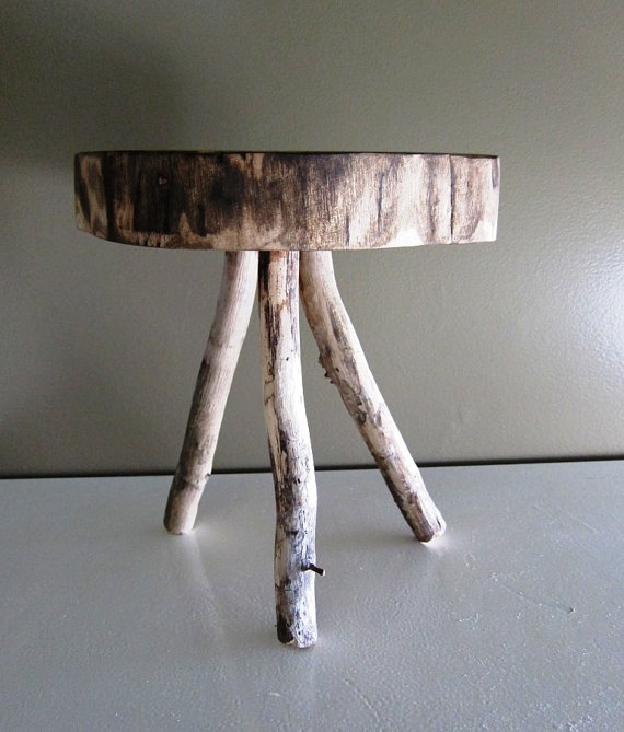Another version of a stump side table diy pinterest for Diy wood stump side table