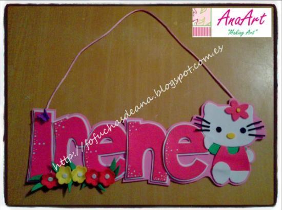 Nombre goma eva Hello Kitty