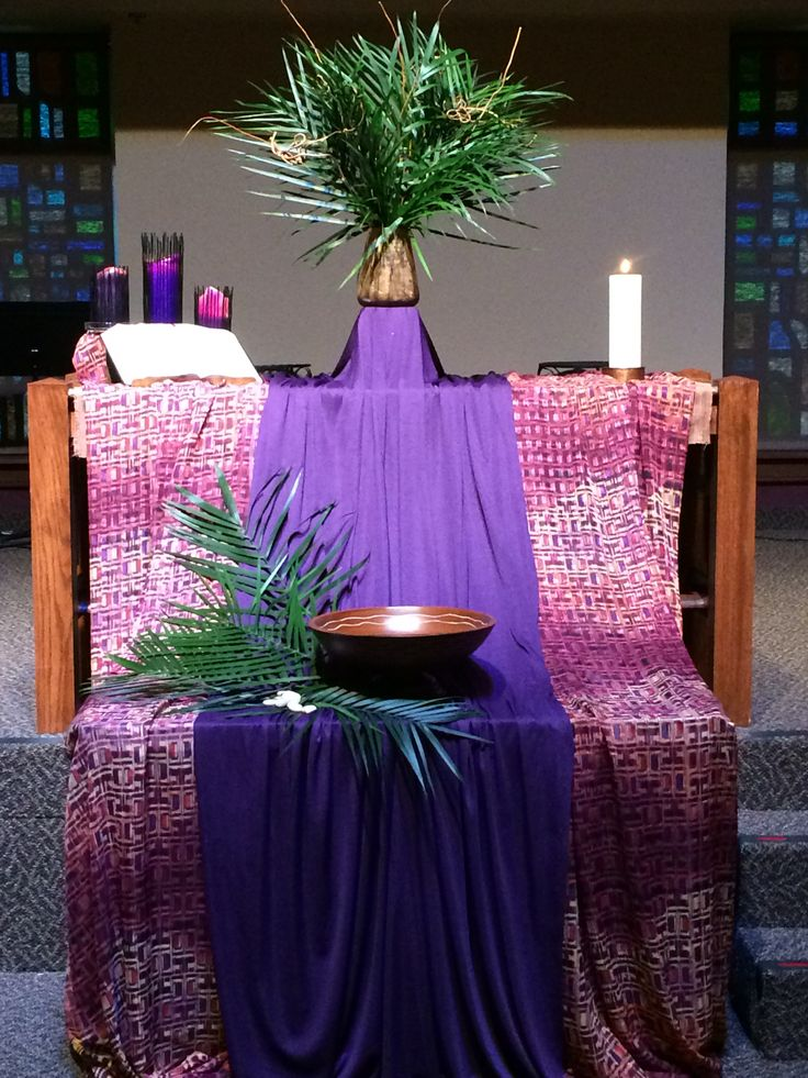 Palm Sunday 2015 Grace Avenue UMC Frisco TX Altar DesignAltar DecorationsPalm