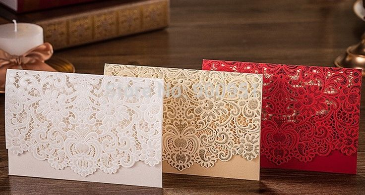 CW073 White-Red-Ivory Lace Design wish made wedding invitation Cards.jpg
