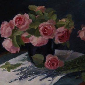 Valentine's Day gift idea art, #valentinesday original artwork by Ling Strube #valentines #valentinesdaygift #giftidea #art #flower #rose #roses #flowers #painting #gifts #originalgifts #uniquegifts #affordableart #beautiful #beautifulart #fineartseen