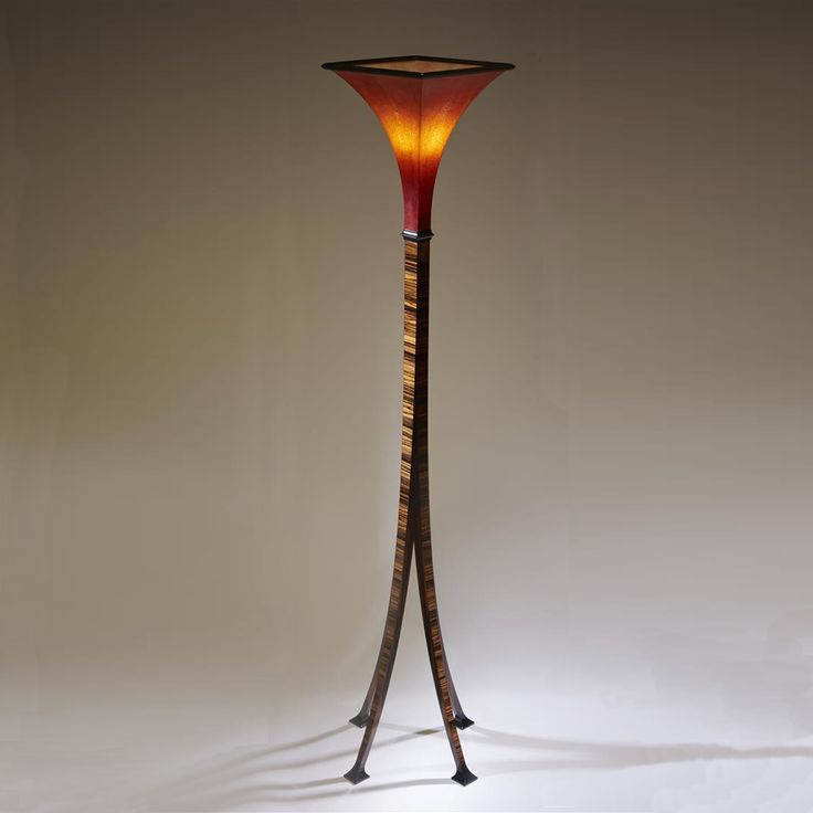 Shagreen and Macassar Ebony Giraffe Lamp. An original design by Boucher & Co