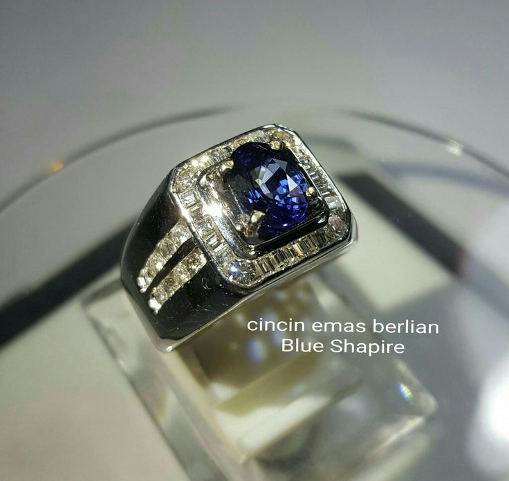 New Arrival🗼. For Man👨. Cincin Emas Berlian Blue Shapire💎💍.   🏪Toko Perhiasan Emas Berlian-Ammad 📲+6282113309088/5C50359F Cp.Antrika👩.  https://m.facebook.com/home.php #investasi#diomond#gold#beauty#fashion#elegant#musthave#tokoperhiasanemasberlian