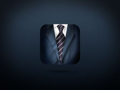 Realistic suit iOS Icon