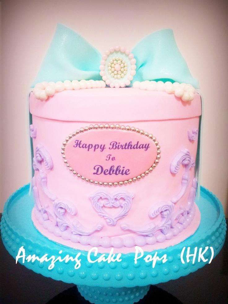 Elegant jewelry box birthday cake cake by myself pinterest