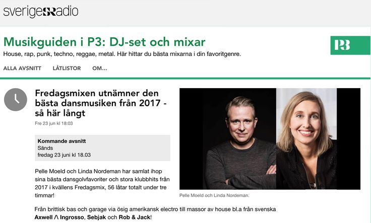 Out great friends Pelle Moeld & Linda Nordeman over at Sweden National Radio P3 have put together a massive three hour show with the best tracks from 2017 so far and Damien Hall ft Jason Sobin - Til' I Love Myself made it - thank you guys, you rock! Show is on Friday June 23 18.00 CET http://t.sr.se/2tRK4mG #damienhall #jasonsobin #tililovemyself #dirtyharry 3fredagsmixen #p3