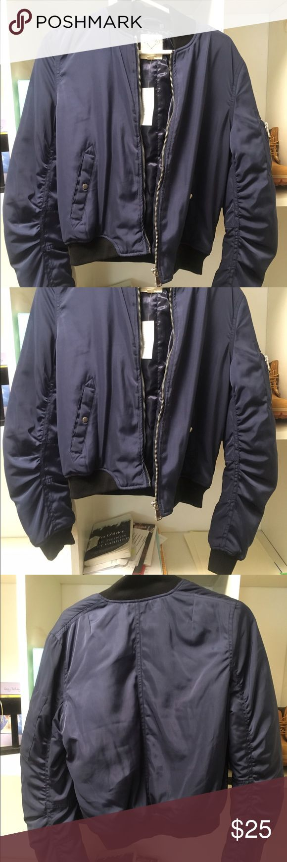 L.A Hearts Navy Bomber Jacket This Navy Blue bomber jacket is very thick and comfy. New conditions with tag LA Hearts Jackets & Coats
