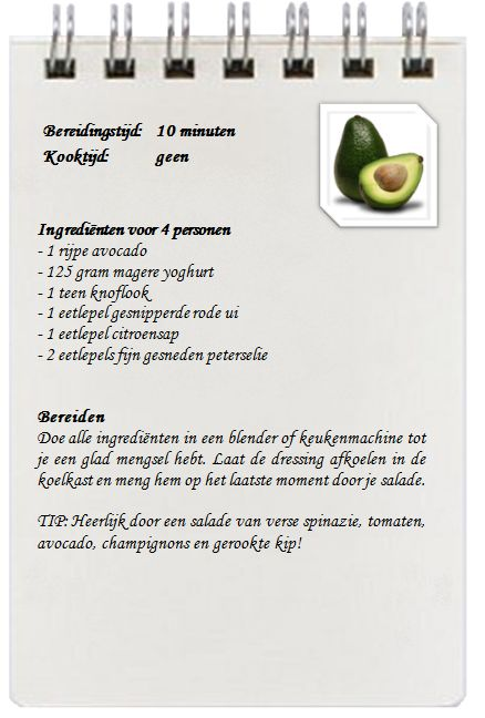 Avocado dressing
