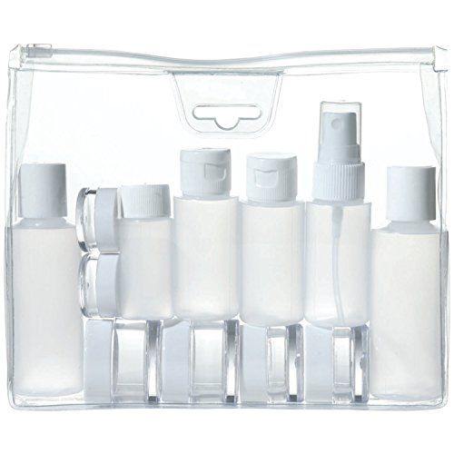 This Travel Smart 13-piece travel kit conforms with TSA guidelines. It is ideal for shampoos, conditioners, hairspray, lotions, creams, etc. The se...