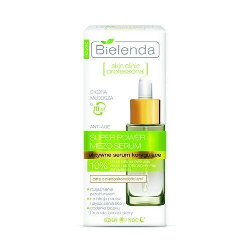 Bielenda, Skin Clinic Profesional, Super Power Mezo Serum (Aktywne serum korygujące Anti-Age do cery mieszanej i tłustej, z niedoskonałościami) - cena, opinie, recenzja | KWC