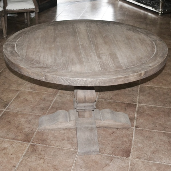 1000 images about renovation ideas dining room on for Distressed round dining table
