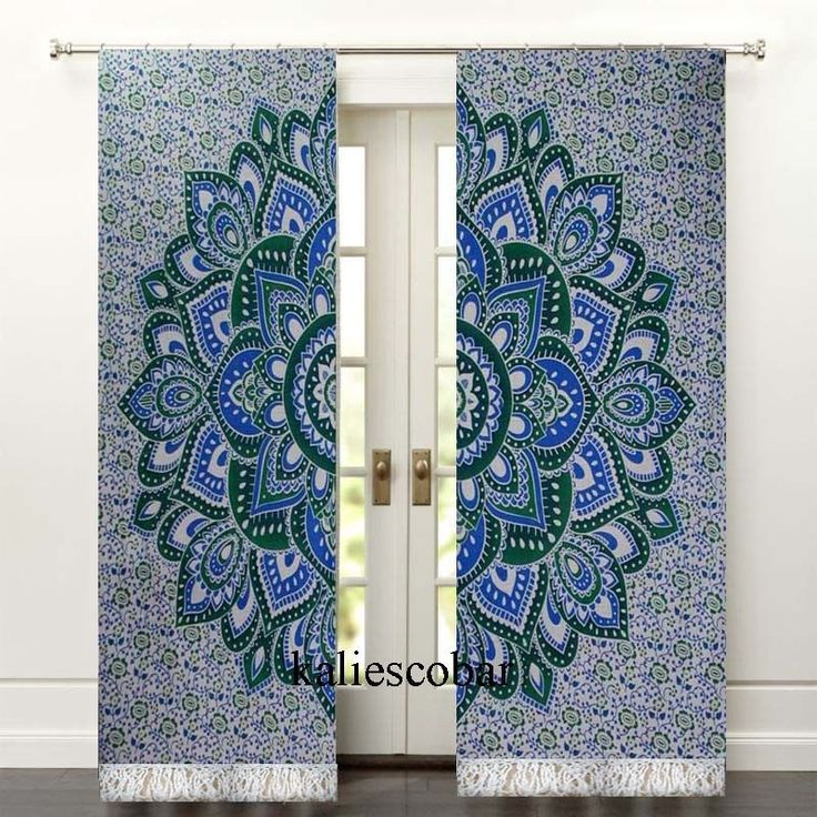 window curtains kitchen curtains shower Mandala curtain panels With Tassel  #Unbranded #Traditional