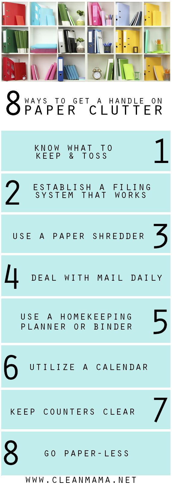 8 Ways to Get a Handle on Paper Clutter for Good | Clean Mama