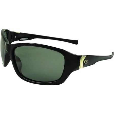 Yachter's Choice Ladyfish Sunglasses for Ladies, Jet Black with Grey Polarized Lenses