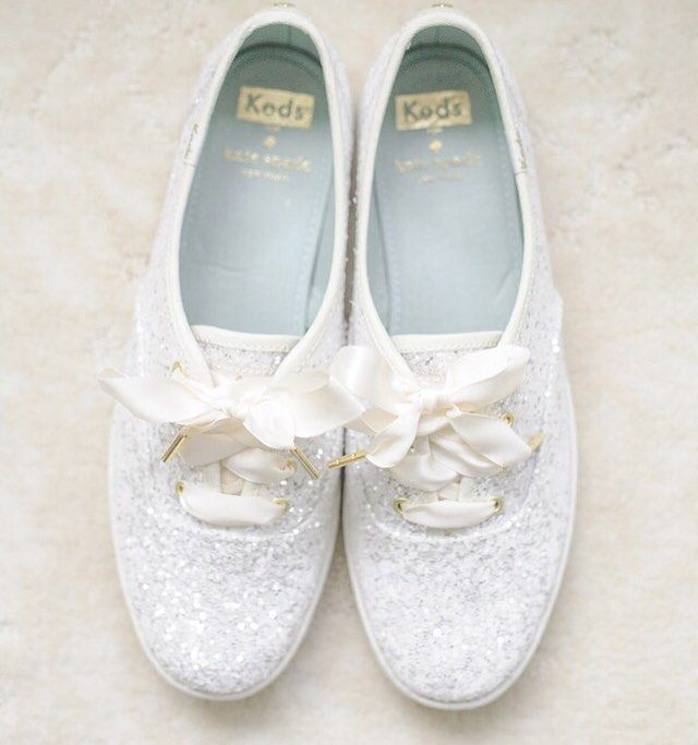 Comfy AND oh-so-cute sparkly #weddingshoes! #weddingideas {Photo: @priscillathomasphoto}