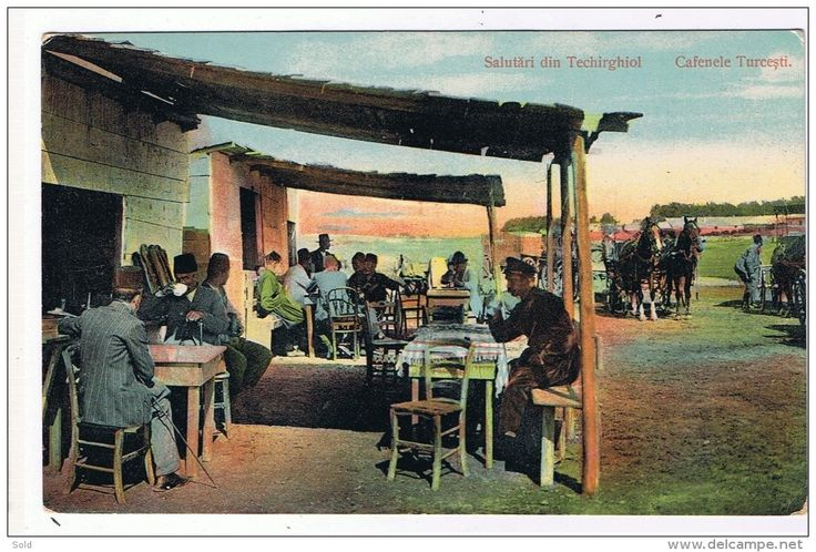 Salutari din Techirghiol - Cafenele Turcesti - circulata 1911
