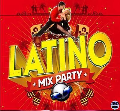 Dj Video Mix  LATINO PARTY MIX  Salsa/Merengue/Cumbia/Bachata!!!!! dvd/cd Set