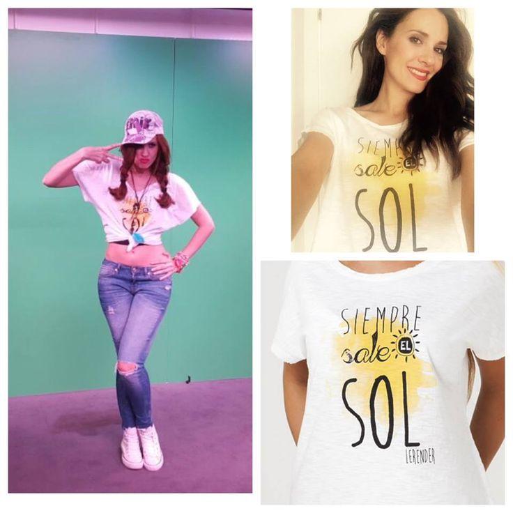 Gracias Elena Ballesteros, luces con mucha fuerza nuestra camiseta Siempre Sale el Sol, love!!