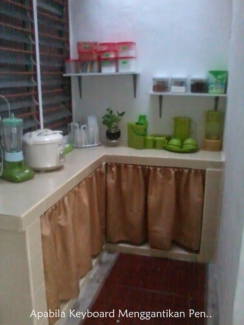 sujer langsir tutup bawah sinki dapur diy   kitchen cabinets diy projects