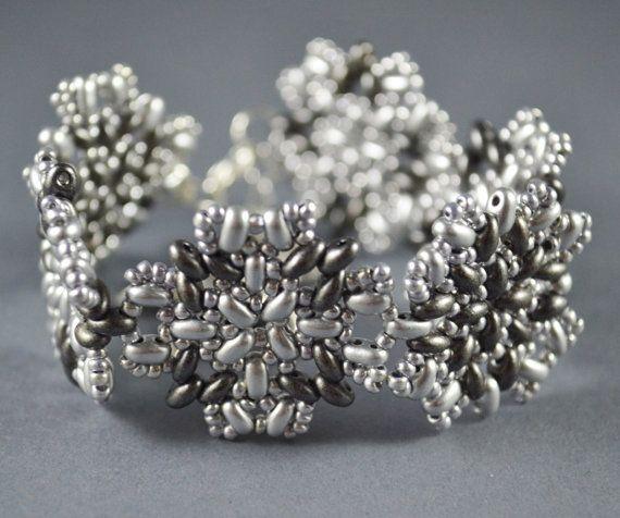 SUMMER SALE OOAK Jewelry Bracelet Beaded 3D by SzkatulkaAmi