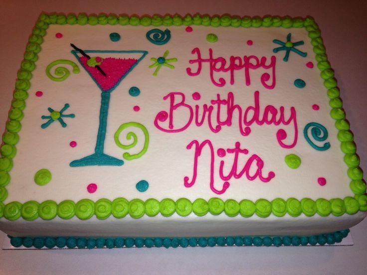 Martini Geburtstagstorte   – Cheeky Cakes