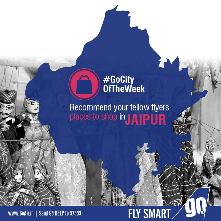 Which markets would you recommend your fellow flyers to shop for traditional souvenirs while on their trip to Jaipur? Non stop flights to Jaipur from Mumbai. Click here to book now – www.GoAir.in #GoCityOfTheWeek #GoAir