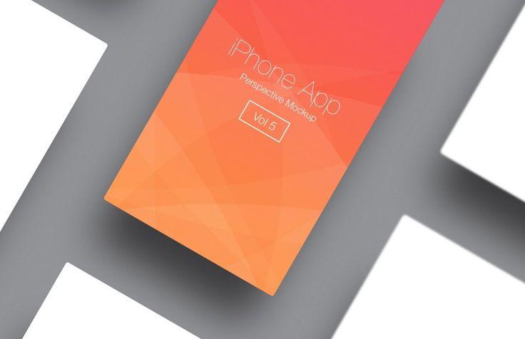 Medialoot - iPhone App Perspective Mockup - Vol 5