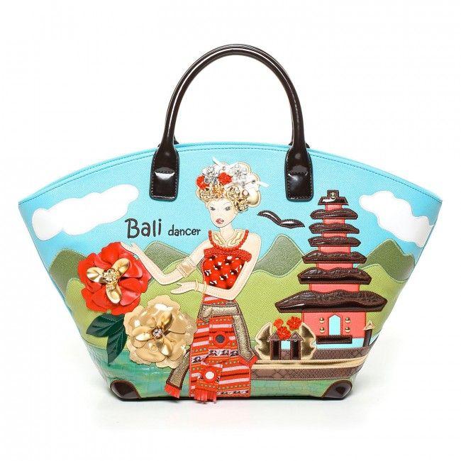 Borsa Braccialini Cartoline Bali #bags #borse #braccialini #cartoline