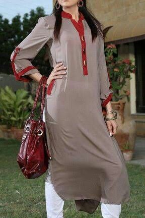 Ash colour with red stripes i am sure you must like the combo